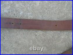 WWI French Leather Rifle Sling LEBEL BERTHIER LEBEL Brass Buckle 1 st Model Rare