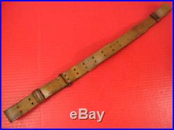 WWI US ARMY AEF M1907 Leather Sling M1903 Springfield Rifle Marked G&K 1918 #1