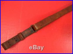 WWI US ARMY AEF M1907 Leather Sling M1903 Springfield Rifle Marked G&K 1918 #2