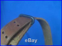 WWI US ARMY M1903 Springfield Rifle Leather Sling, W. T. & B. Co. 1918 Excellent