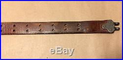 WWII 1907 Pattern Leather Rifle Sling, Marked Boyt 43, for Garand, 1903