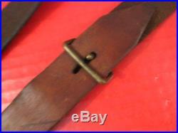 WWII Era Japanese Arisaka Type 38 or Type 99 Leather Rifle Sling Original #1