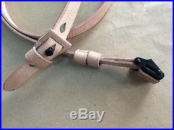 WWII German K98 98K RIFLE SLING (Repro) NATURAL Leather (Lot of 20 Units)