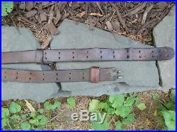 WWII Leather M1907 M1 GARAND 03 SPRINGFIELD Rifle Sling GREAT CONDITION
