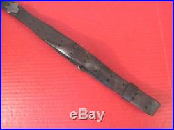 WWII US ARMY M1907 Leather Sling M1903 Springfield M1 Garand Rifle Unmarked #2