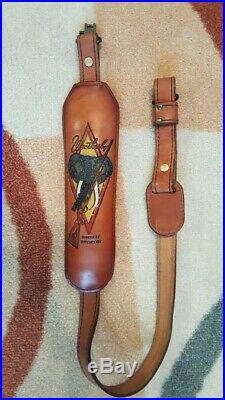 Weatherby Vintage Elephant rifle sling Torel 4770 Symbol of Superiority Leather