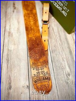 Western Leather Rifle Sling Vintage Finish Shotgun Sling Personalize with Name
