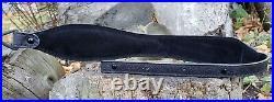 Western Style Embossed Black Leather Rifle Sling