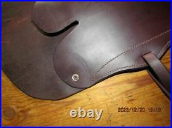 Western Winchester Leather Rifle Scabbard Double Sling Saddle Straps Oilded