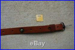 Winchester 70 Pre 64 Swivel Set With Leather Sling Also Post 70 Models OEM 71 94