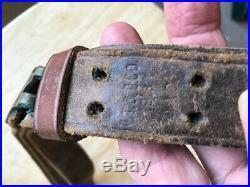 World War 1 original leather rifle sling W T & B Co Westboro Trunk & Bag Co 1918