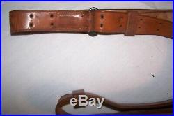 Ww2 U. S. Leather Rifle Sling For 1903 Springfield Rifle